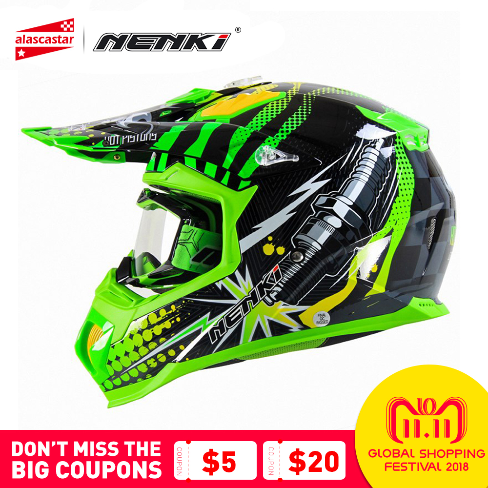 цены NENKI 315 Fashion Motocross Helmet Motorcycle Full Face Helmet Men Women ATV Dirt Bike MX BMX DH MTB Racing Moto Helmet