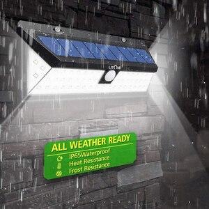 Image 4 - 180LEDs PIR hareket sensörlü ışık açık LED projektörler güneş enerjili işık duvar lambası ev bahçe güvenlik sundurma işıkları