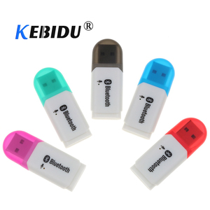 Kebidu Mini USB Bluetooth 5.0 Wireless Audio Adapter Stereo Receiver Handsfree Car Kit With Microphone For Car Player for Phone