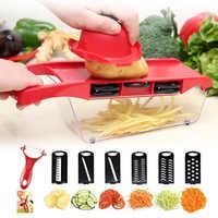 6in1 Multifunctional Vegetable Slicer Carrot Potato Fruit Melon Peeler Cutter Manual Vegetable Shredder Kitchen Accessories