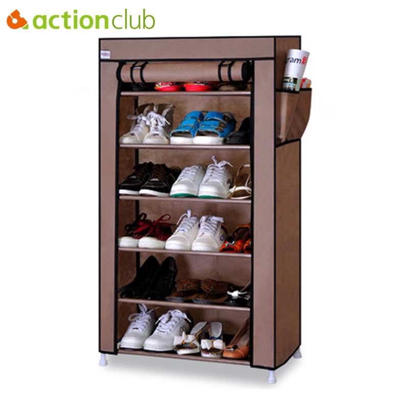 Actionclub Thick Non-woven Multi-layer Shoe Cabinet Dustproof Creative DIY Assembly Storage Shoe Rack Shoe Organizer Shelves 12 grid diy assemble folding cloth non woven shoe cabinet furniture storage home shelf for living room doorway shoe rack