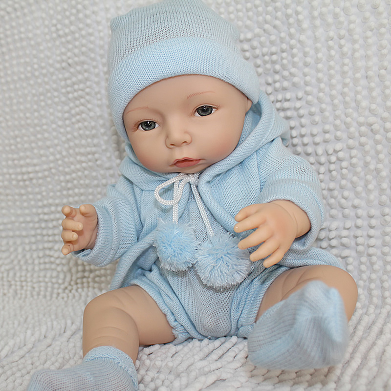 ФОТО Lifelike 16 Inch New Style Boy Reborn Baby Doll Realistic Princess Boys Full Silicone Vinyl Newborn Babies Kids Birthday Gift