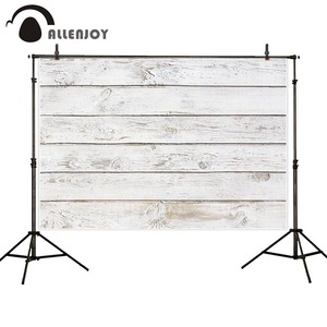 Image 2 - Allenjoy التصوير خلفية نقية بيضاء خمر سبورة خشبية الطابق جدار خلفية صور استوديو photophone التصوير تبادل لاطلاق النار ديكور