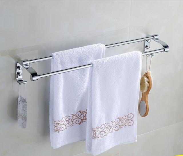 Badzubehör Handtuchhalter edelstahl handtuchhalter mit haken 60 cm doppel bad handtuchhalter