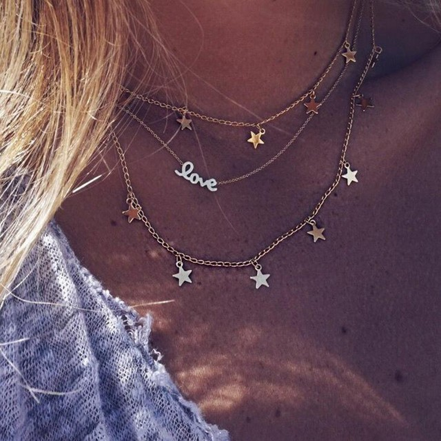 brixini.com - Starry Starry Love Multilayered Necklace