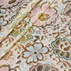 145cm Polyester Cotton Lotus Flower With Gold Thread Jacquard European Retro Fabric For Luxury Dress Suit