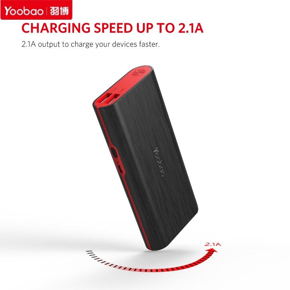 imágenes para S7 Yoobao 10000 mAh banco de Potencia de Gran Capacidad Dual USB 2A Cargo Cargador de Batería de Reserva Móvil Portable Powerbank