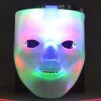 1 unids Flashing Light LED Blanco Cara Máscara de Calavera Esqueleto Máscaras de Halloween Rave Party Favor