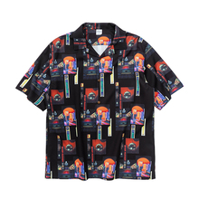 HFNF hip hop streetwear men Hawaiian Printed Floral summer floral rapper beach shirts for Youth Harajuku