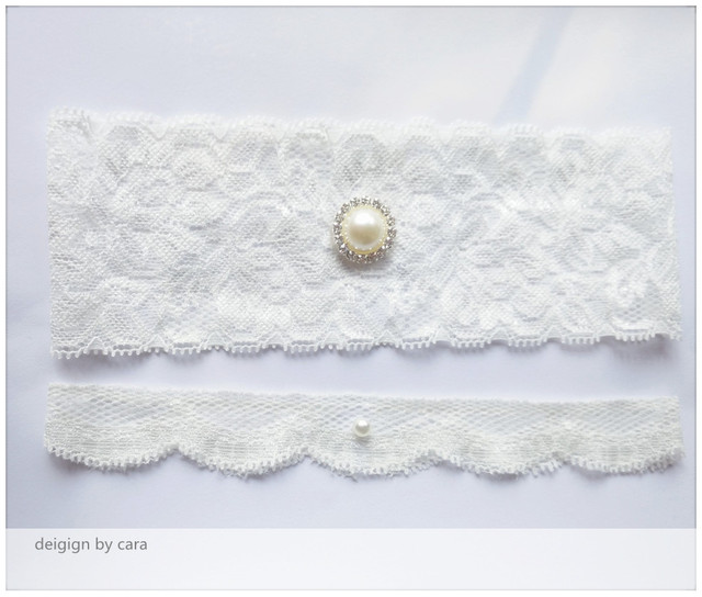 845d1f269a2 1 Pair Vintage Wedding garter Lace garter set bridal garter with Pearl lace  stretch White Inspired toss garter free ship