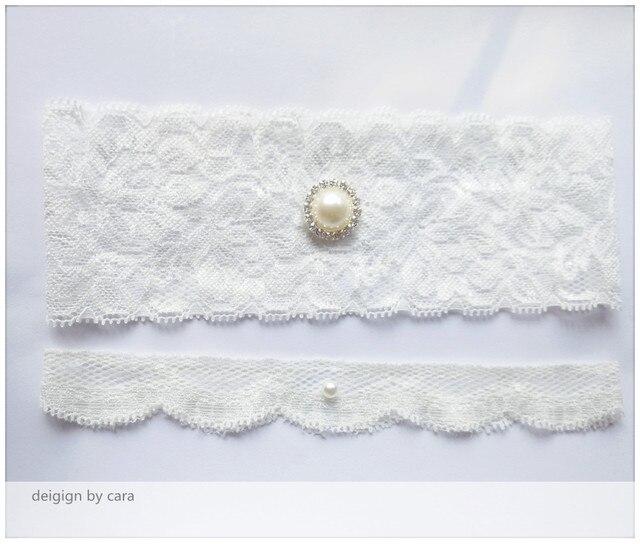 4457e5476 1 Pair Vintage Wedding garter Lace garter set bridal garter with Pearl lace  stretch White Inspired toss garter free ship
