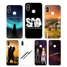 Silicone Case Sword art Online Printing for Xiaomi Mi 6 8 9 SE A1 5X A2 6X Mix 3 Play F1 Pro Lite Cover