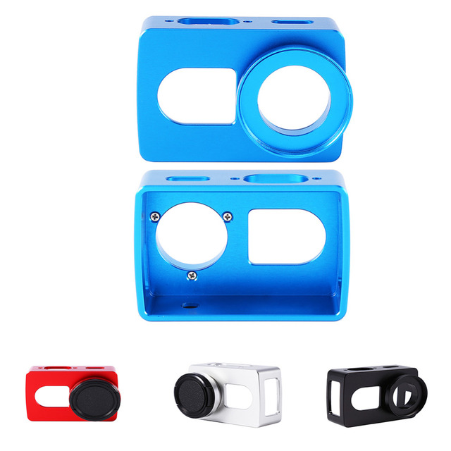 Para acessórios de proteção xiaomi yi 4 k cnc tampa do caso do quadro + lente (sem Lente UV) para xiaomi yi 2 4 k câmera de ação esporte