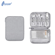 Travel Cable Storage Bag for Charging Cable Cellphone Electronics Accessories Organizer Mini Tablet USB SD Card Pen Digital IPad hot brand bubm digital storage bag for ipad 2 3 4 5 case for ipad air 9 7 9 tablet disk usb cable card hand bag free shipping