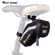 WEST BIKING Bicycle Polyester Back Seat Repair Tools Pocket Bike Seat Mesh Tube Pack Cycling Saddle Bag Bike Pocket Seat Bags
