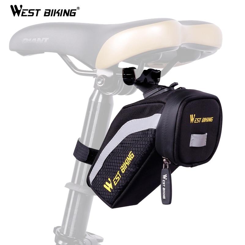 WEST BIKING font b Bicycle b font Polyester Back Seat Repair Tools Pocket Bike Seat Mesh
