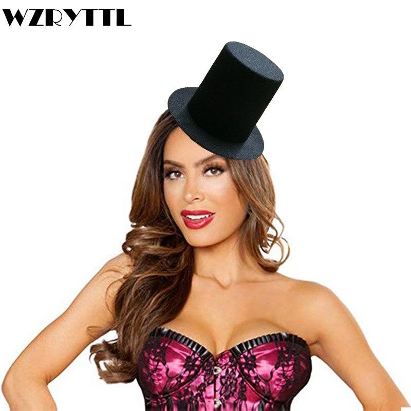 7464b665992bf Black Mini Top Tall Hat Man Women Wedding Party Fascinators Hat EVA 8cm Millinery  Hat Base