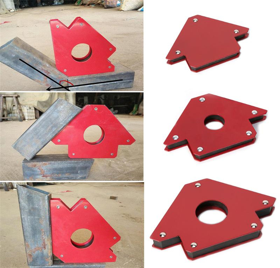 Hot 1pcs 25LBS Welding Magnetic Holder Strong Magnet 3 Angle Arrow Welder Positioner Power Soldering Locator Tool