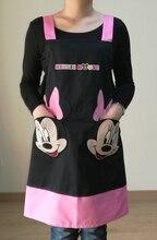 Avental de cozinha divertido schwarz mickey schürzen küche zubehör mode overalls hause schürze japan cartoon