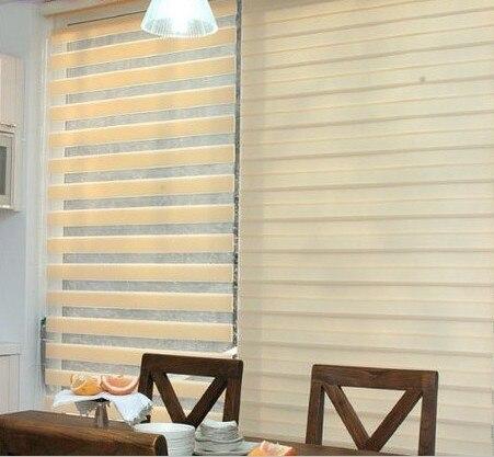 Double Soft Gauze Curtain Shutter Window Blinds Blackout Roller Office  Kitchen Bathroom Balcony