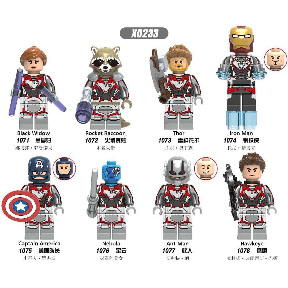 X0233 Legoings city Marvel animation Avengers League 4 superhero nebula Ant man Captain America assembled building blocks toy fo