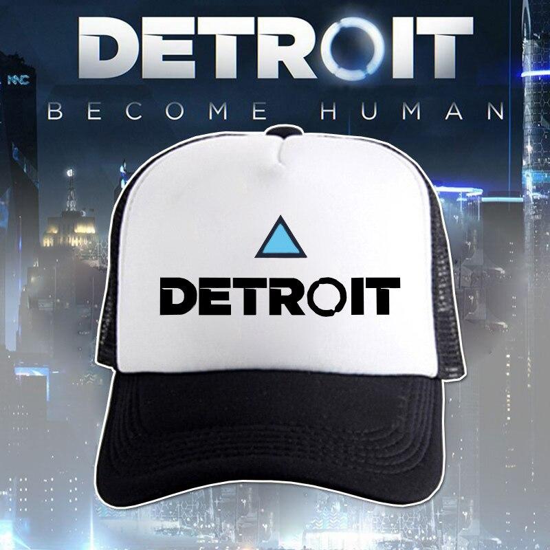 Game Detroit: Become Human Cosplay Hat Connor Code RK800 Cosplay Cap Adjustable Net Cap Men Women Sports Baskball Cap 4 Colors