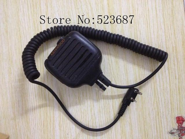 2 Pin Handheld Speaker MIC for for Kenwood TK-240 TK-250 TK-255 Walkie talkie transceiver interphone Free Shipping