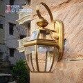 Лучшая цена Минималистичная винтажная медная настенная лампа Европейская наружная настенная лампа E27 LED прикроватная настенная лампа для г...