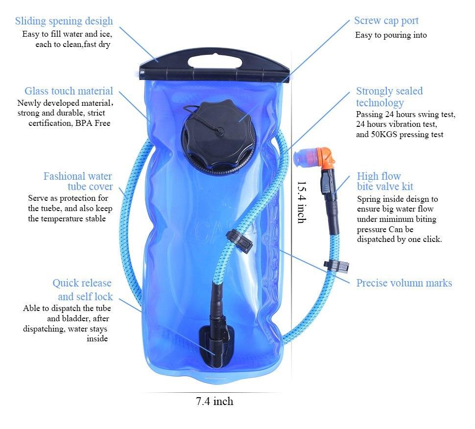 Многофункциональная уличная Рыболовная Сумка, спортивный рюкзак, охотничий рыболовный жилет, аксессуары для альпинизма, сумка + 2л гидратационный водный пакет - 4