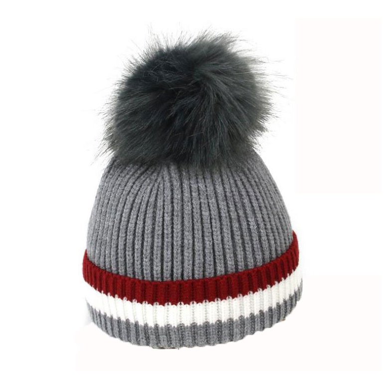 5e7900ba64b Baby Beanies Hats Boy Girl Skullies Pom Pom Fur Ponpon Knit Skull Cap Kids Thick  Cable Cap Child 2018 Winter Warm Hat M6830