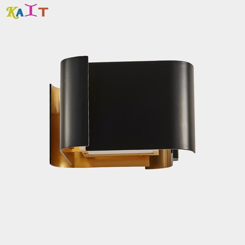Işıklar ve Aydınlatma'ten LED İç Mekan Duvar Lambaları'de Modern minimalist LED alüminyum başucu lambası duvar lambası odası ayna ışık title=