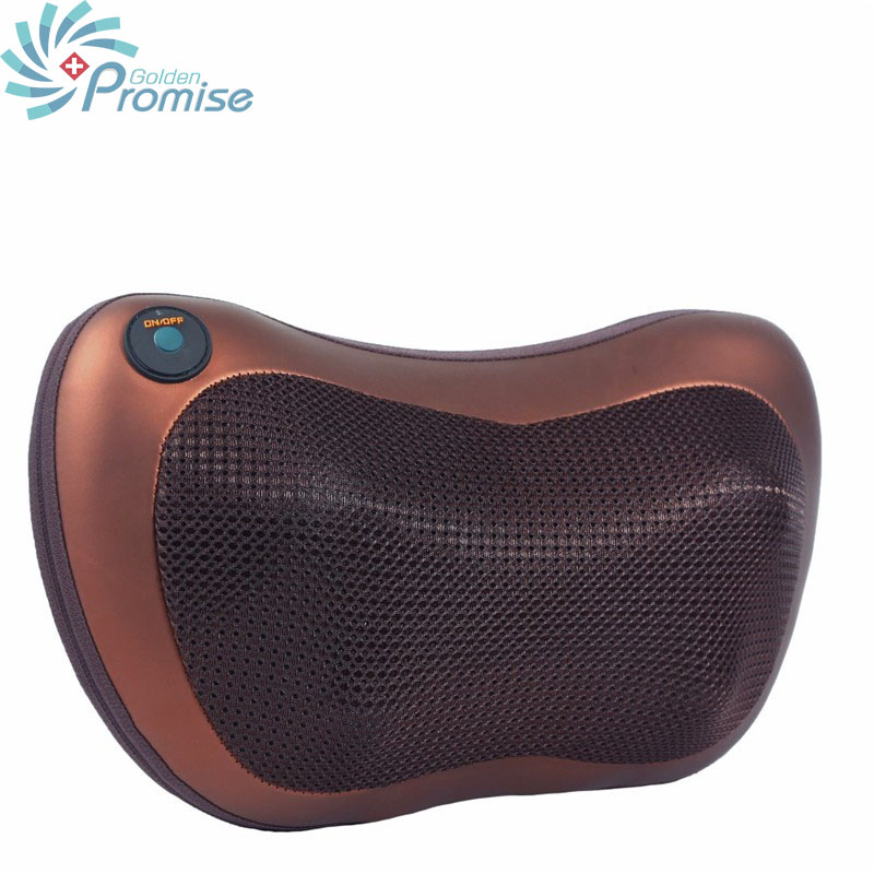 Dual Use Massage Device Neck Relaxation Pillow Electric Shoulder Back Massager Car Shiatsu Massage Pillows with Heating electric massage pillow infrared heating kneading cervical neck shoulder auto shiatsu massager car use massage