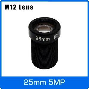 Image 1 - 5 メガピクセル M12 固定 1/2 インチ 25 ミリメートル cctv レンズ長距離用 1080 1080p/4MP/5MP ahd カメラ ip カメラ送料無料