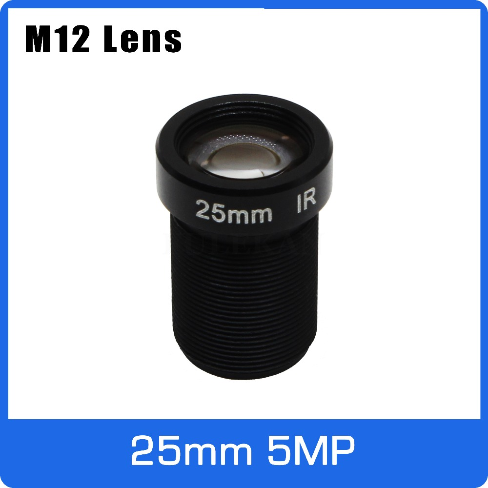 5Megapixel M12 Fixed 1/2 inch 25mm CCTV Lens Long Distance View For 1080P/4MP/5MP AHD Camera IP Camera Free Shipping new cctv lens 1 2 5 inch 6 22mm 5mp m12 mount varifocal lens f1 6 for 4mp 5mp cmos ccd sensor security ip ahd camera