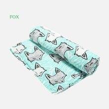 100%Cotton Flamingo Rose fruits Print Muslin Baby Blankets Bedding Infant Swaddle Towel For Newborns Swaddle Blanket