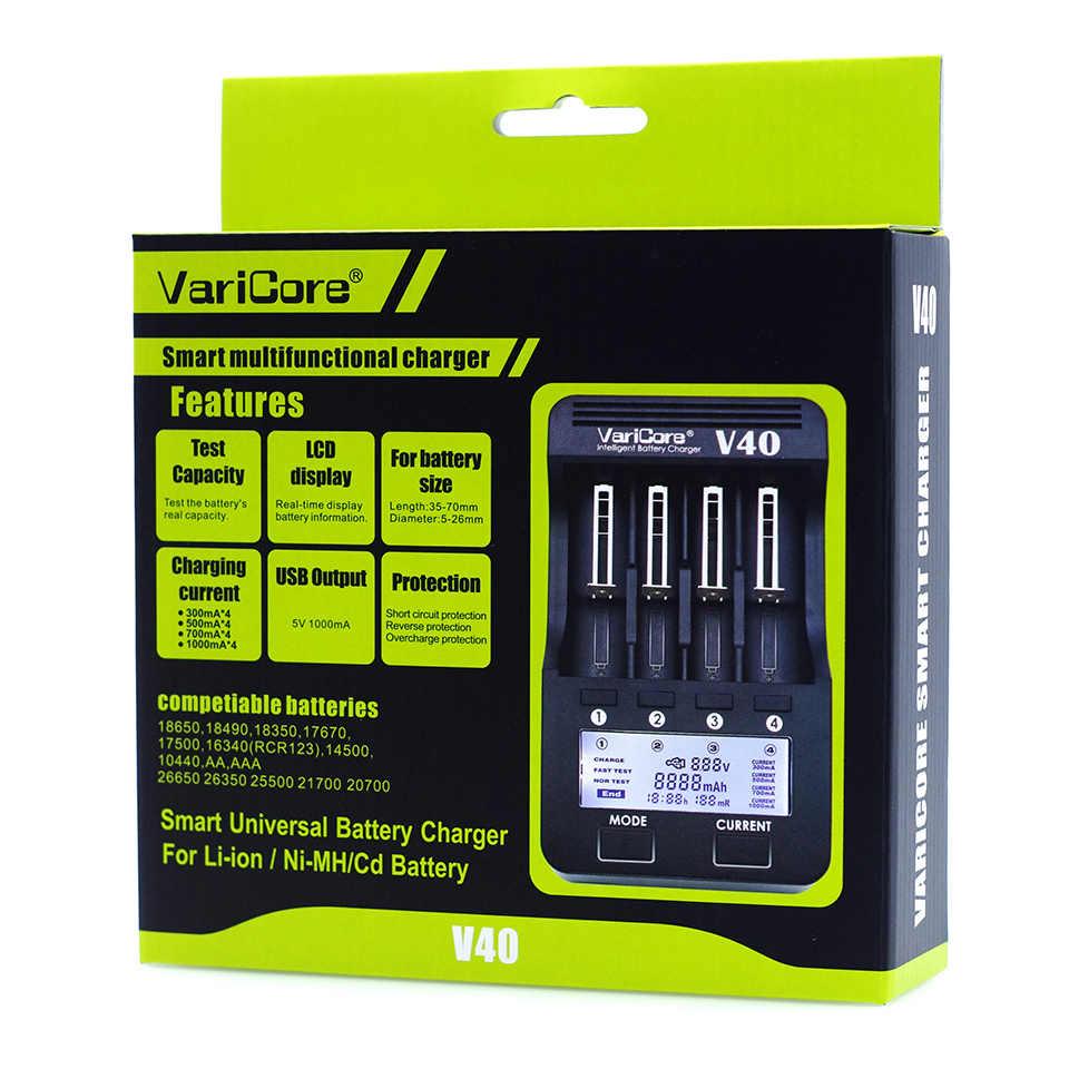 VariCore V20i V10 U4 V40LCD, opladen 18650 26650 16340 lithium batterij AA/AAA NiMH batterij en andere batterij oplader 18650