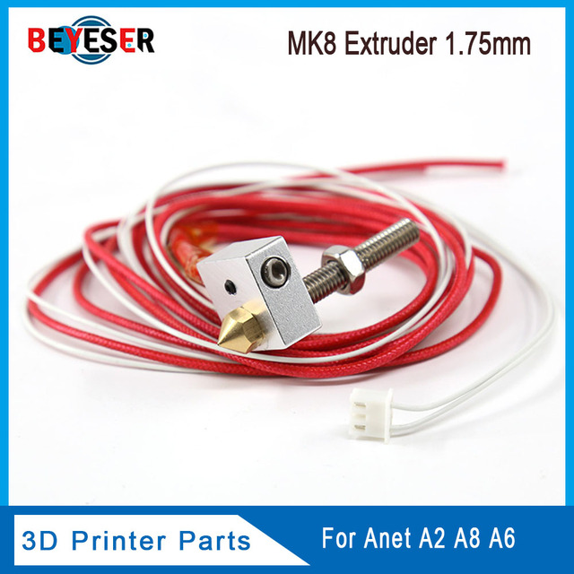 12V 40W Ewigkeit MK8 Hotend CR10 CR10S Assembled Extruder with Aluminum Heating Block 0.4mm Nozzle