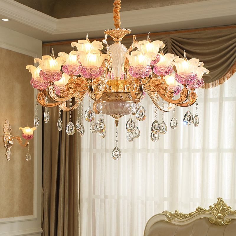 European Chandelier Lighting Modern Crystal Chandelier For Livingroom led Crystal Lamp Hotel Zinc Alloy Crystal Glass Chandelier