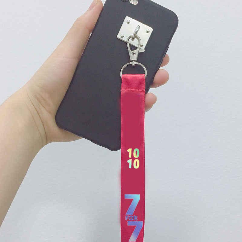 Мода KPOP GOT7 Брелок 7 для 7 брелок для ключей возврат вокруг телефона кулон Веревка Брелок имя мобильного телефона ремень YOUNGJAE MARK