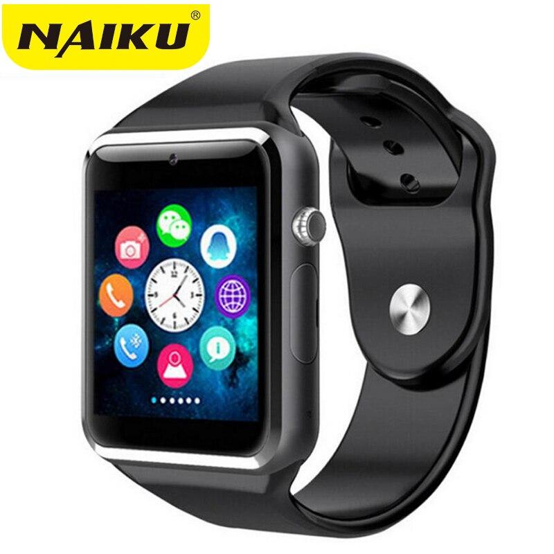 Relógio de pulso A1 Bluetooth Relógio Inteligente Pedômetro Esporte Com Câmera SIM Smartwatch Para Android Smartphones Rússia T15 boa do que GT08