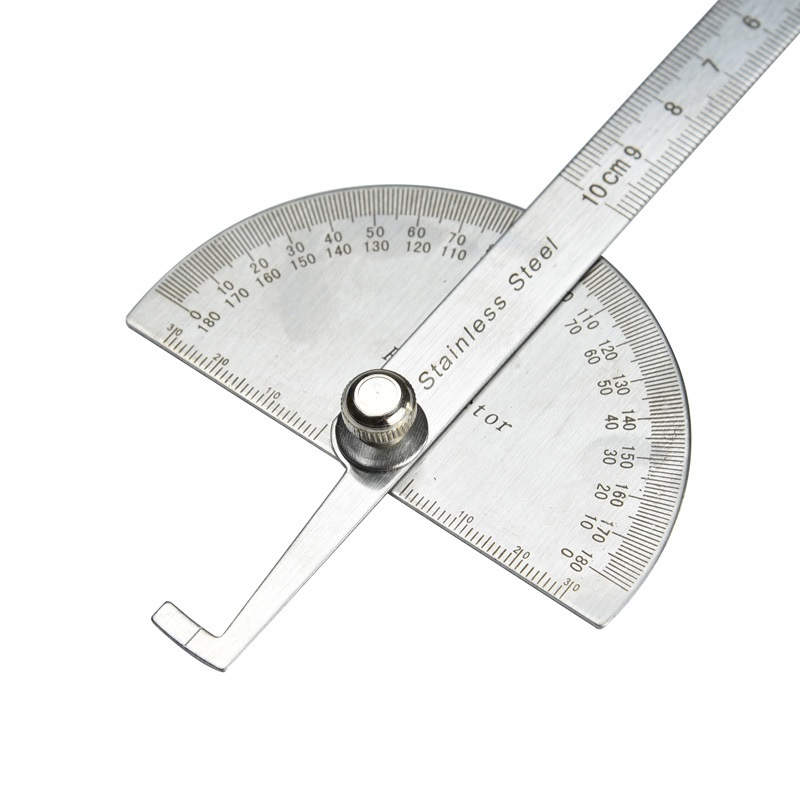 Stainless Steel 180 Degree Protractor Angle Finder Rotary Measuring Ruler For Woodworking Tools Angles Ht1013 In Level Instruments