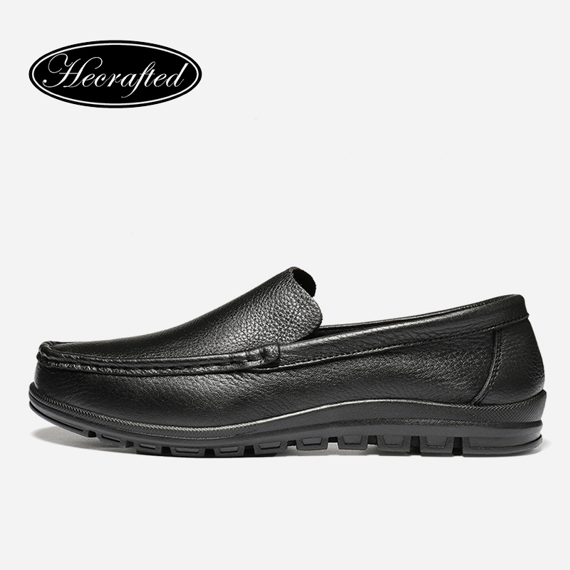Handmade Top quality men's genuine leather casual shoes loafers men Casual leather Shoes,original HECRAFTED brands #9688 hot sale mens italian style flat shoes genuine leather handmade men casual flats top quality oxford shoes men leather shoes