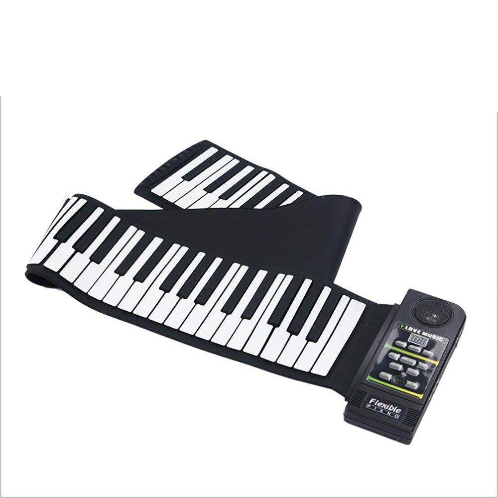 Multi-style Portable 88 clés Silicone Flexible retrousser Piano pliant clavier électronique pour enfants étudiant - 2
