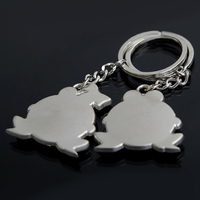 1 Pair Love You Big Mouth Frog  Keychain for $4.99 with Free Shipping  4