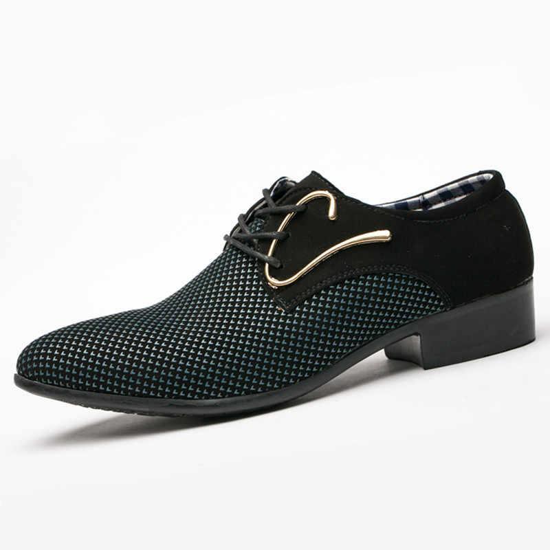 2018 primavera nuevo diseñador de vestir de negocios para hombres Zapatos de retales zapatos Hairstylis zapatos cómodos de vestir de boda para hombres