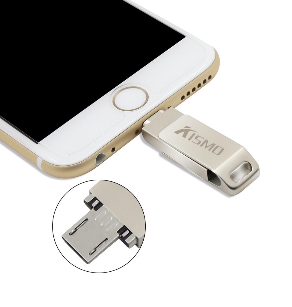 Kismo I Flash Drive Mini Otg Metal Usb Pen Flashdisk Samsung 64gb Oem For Iphone X 8 7 6 5 Ipad Android Smart Phone Pc