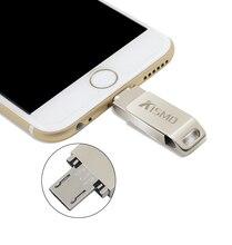 i-Flash Drive KISMO Mini OTG Metal USB Flash Drive Pen Drive for iPhone 5 6 and iPad ,Android Smart Phone PC (16/32/64/128GB)