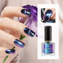 BORN PRETTY 6ml Chameleon 3D Magnetic Auroras Nail Series Cat Eye Polish Art Black Base Needed