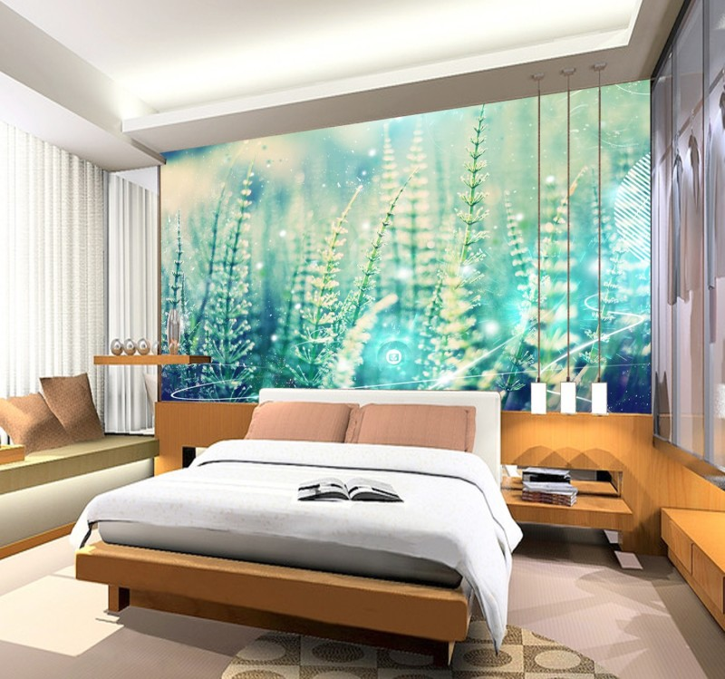 Newest fancy floral design 3d wallpaper mordern painting for Home wallpaper designs for living room