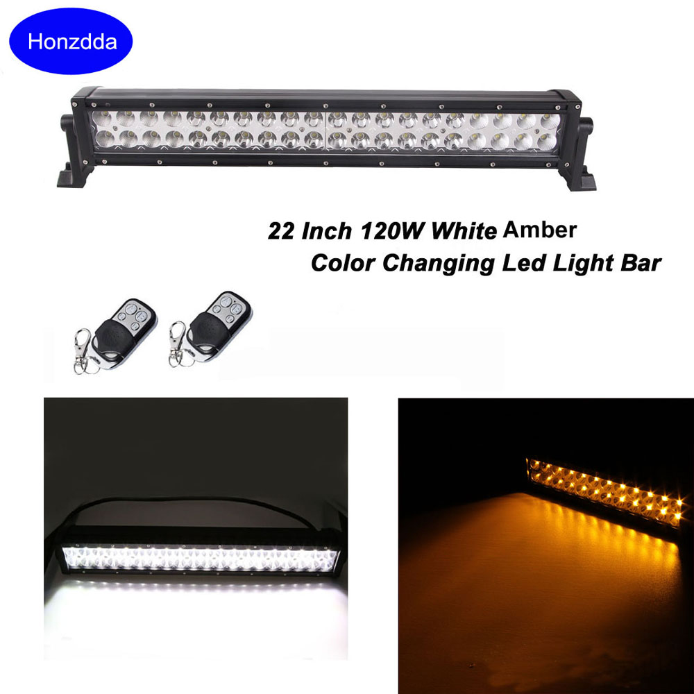 Honzdda Car Led offroad light bar White Amber Color Changing Signal Led Light Bar for truck 12V Strobe Flashing Warning Light амортизаторы bilstein в6 offroad